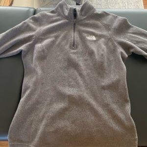 Grey small north face fleece half zip